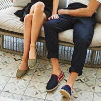 Man och kvinna i skor från Verbenas.
